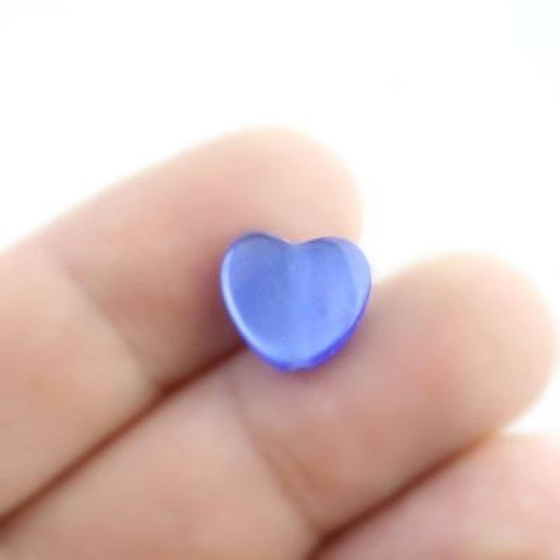 Бусины ДеЛюкс с переливом Сердце D=11 МИКС 1шт #5644