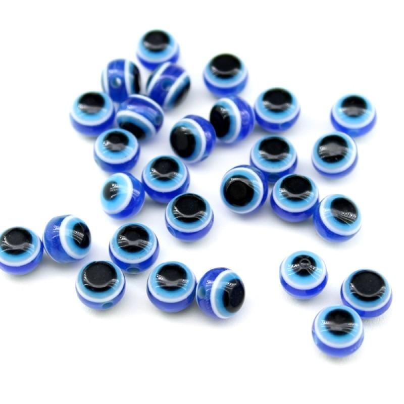 Бусины Глаза D=8, 1шт Синие #6021