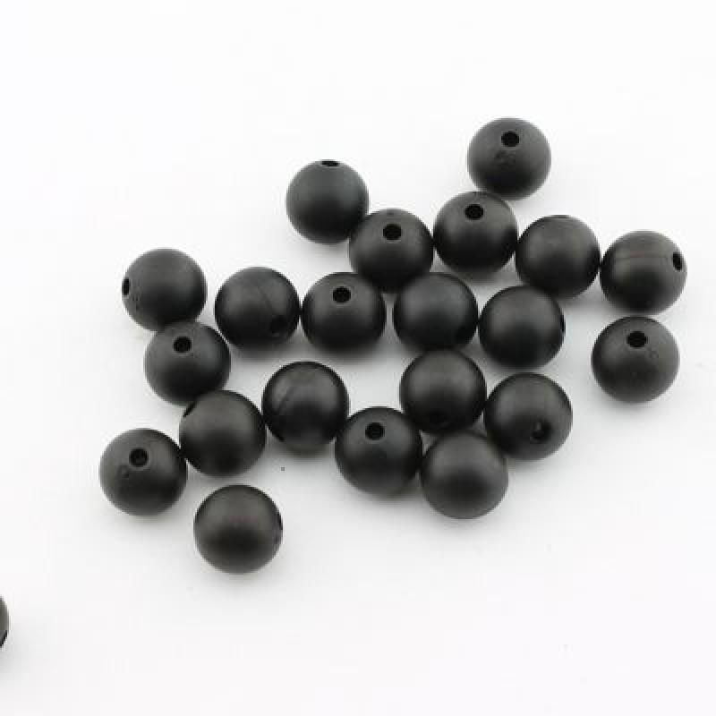 Бусины Матовые D=12, 1шт Черные #1673
