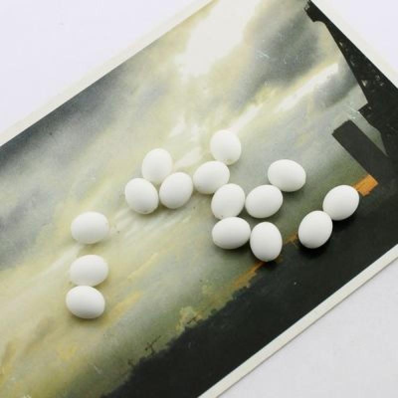Бусины Овальные 10х8,1 гр (3шт) Белые #1698