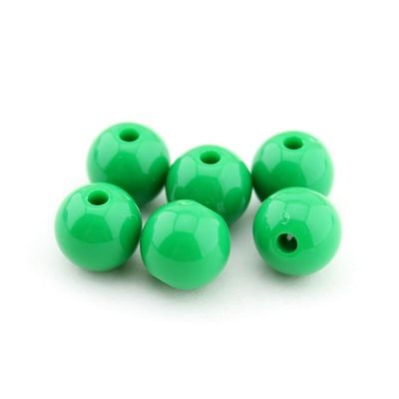 Бусины D=10, 1 гр (2шт) Зеленые #4944