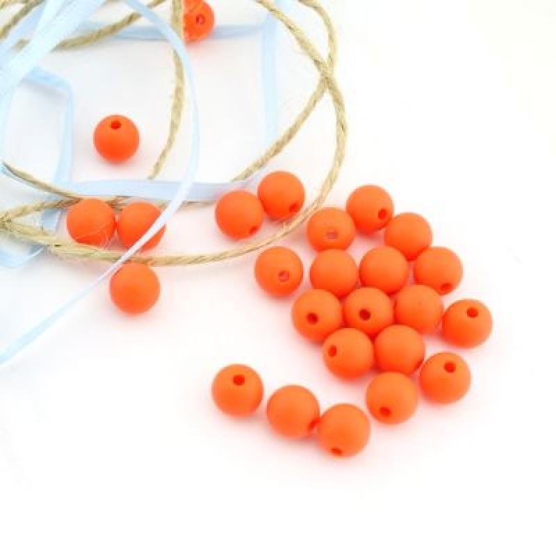 Бусины D=10, 1 гр (2шт) Оранжевые #4952