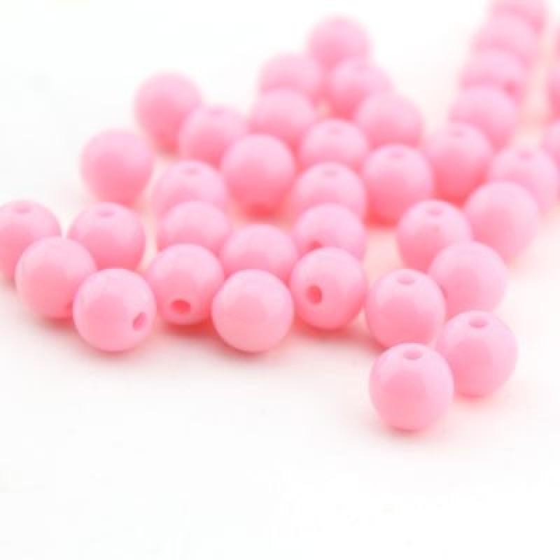 Бусины D=8, 1 гр (4шт) Св-розовые #4955