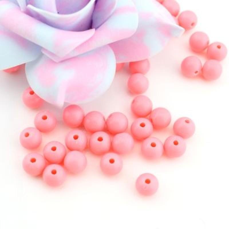 Бусины D=8, 1 гр (4шт) Св-розовые #4959