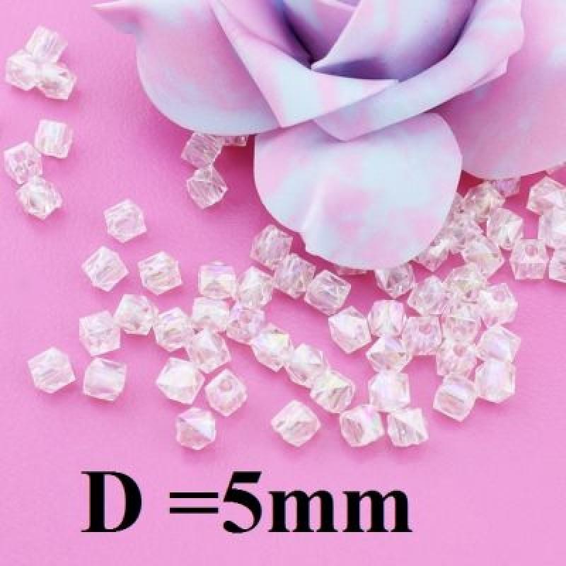 Бусины Блестящие D=5, 1гр (10шт) Прозрачные #4965
