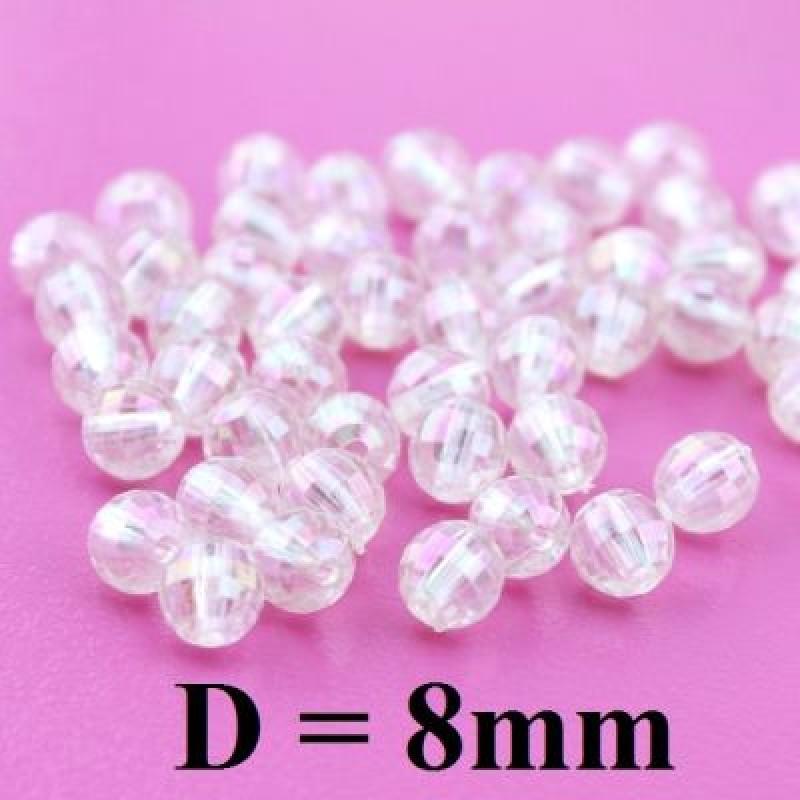 Бусины Блестящие D=8, 1гр (3шт) #4986