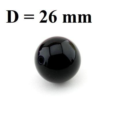 Бусины D=26, 1шт Черные #5535