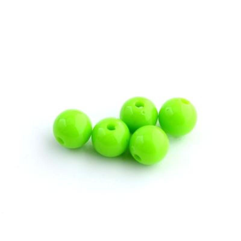 Бусины D=8, 1 гр (3шт) Зеленые #5737