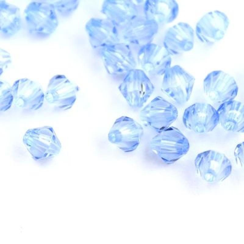 Бусины Ромб D=6 ,1гр (12шт) Голубые #5750