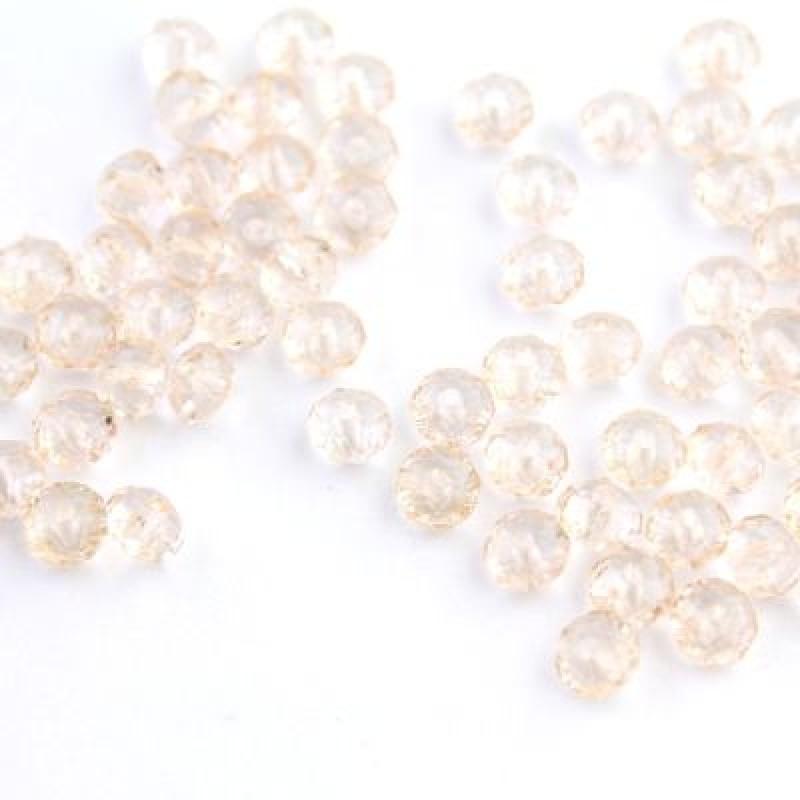 Бусины с огранкой 6х4, 1 гр (12 шт) Персиковые #5765