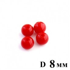 Бусины D=8, 1гр  (3шт) Красные #5732