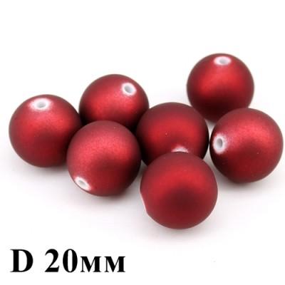 Бусины D=20 Красные, 1шт #3300