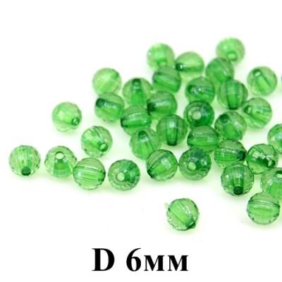 Бусины D=6, 1 гр (9шт) Зеленые #4274
