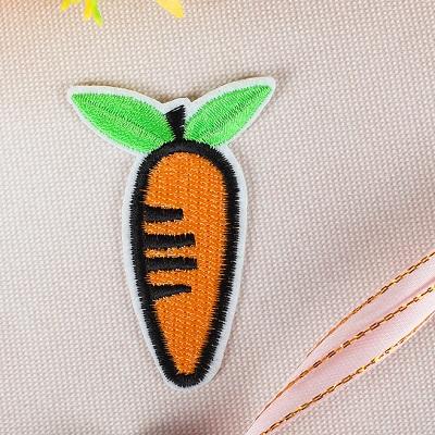 Термоаппликация Морковка 6*4см #10252