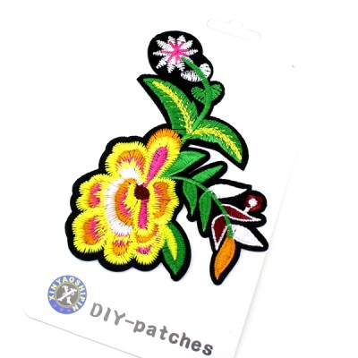 Термоапликация Желтый цветок#11352