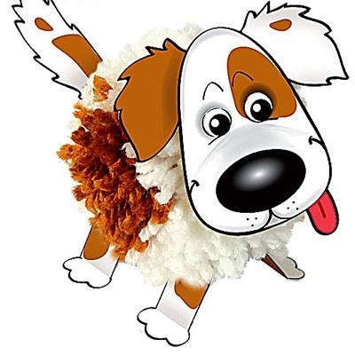 Набор для изготовления фигурки Пёс из помпона #10018