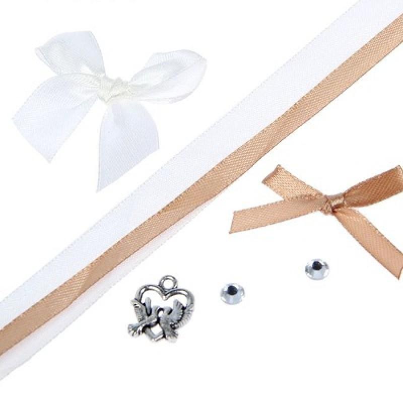 Набор для декорирования бонбоньерки Свадебный #10035