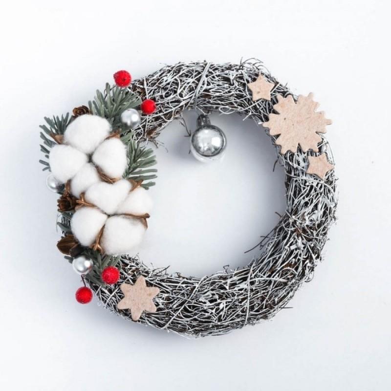 Новогодний венок «Зимняя сказка» #11442