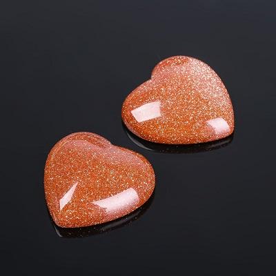 Кабошон Авантюрин коричневый сердце 20мм #10069