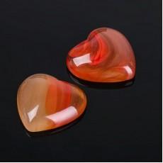 Кабошон Сердолик сердце 20мм #10070