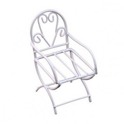 Металлический мини стул белый 4*7.5 #10145