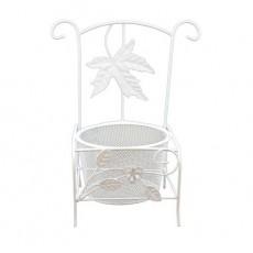 Металлический стул-кашпо #10156