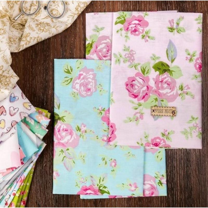 Набор ткани пэчворк «Розовый водопад», 50х50 см #10404