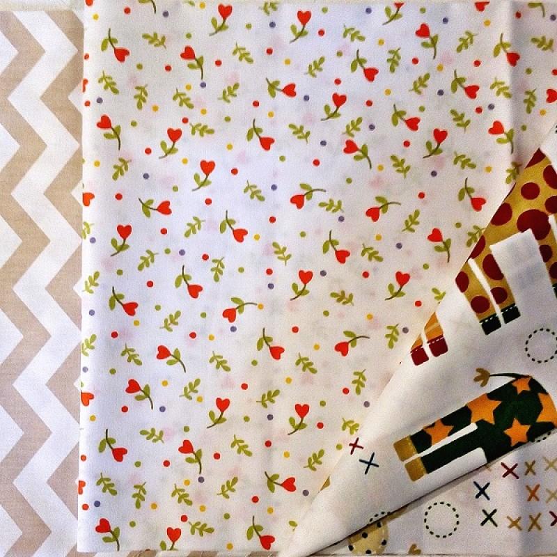 Набор 50х50 3шт (Жирафы и цветы) #10501