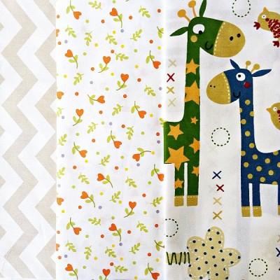 Набор 30х40 3шт (Жирафы и цветы) #10504