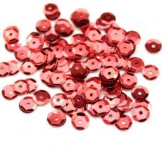 Пайетки Круглые красные 8мм, 10гр #11315