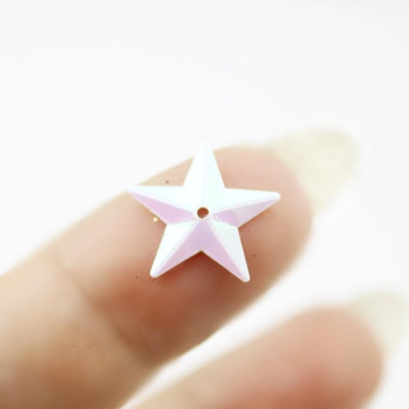Пайетки Звезды 15мм, 10 гр #11317