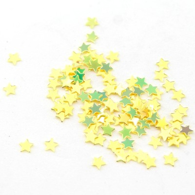 Пайетки звёздочки золотые 5мм, 10гр #11319
