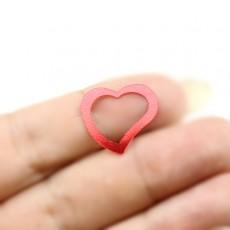 Пайетки Сердечки красные МИКС, 10гр #11321