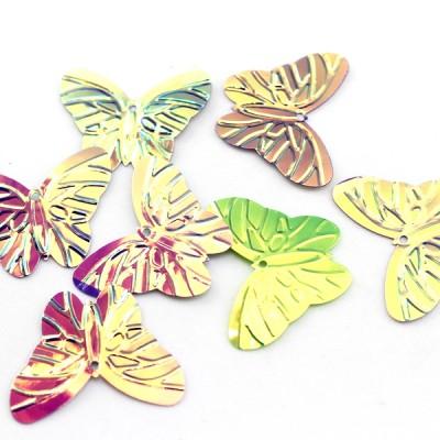 Пайетки бабочки 30х24, 10гр #11322
