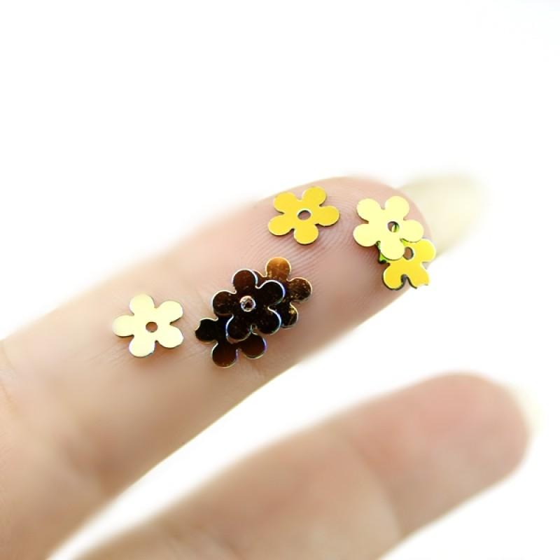 Пайетки цветочки D=8мм, 10гр #11330