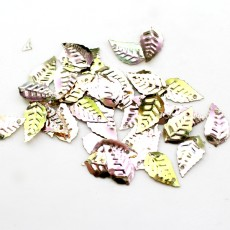 Пайетки листики 16х9, 10гр #11340