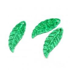 Пайетки Листья 30х12 зелённые, 10гр #11341