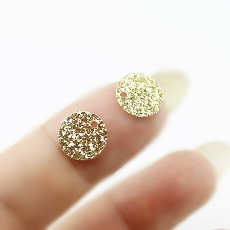 Пайетки круглые золотистые 10мм, 10гр #11327