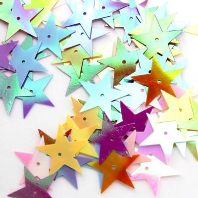 Пайетки звезды глянец D=20мм, 10гр #10668