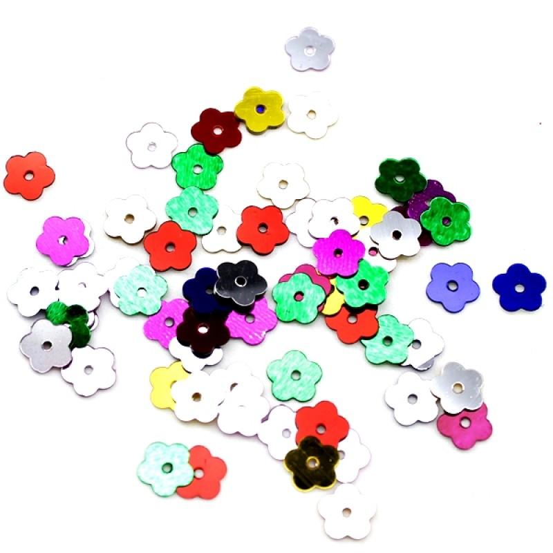 Пайетки Цветочек D=6мм, 10гр #10667