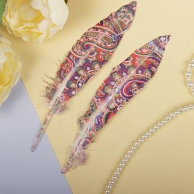 Набор перьев для декора, 2 шт #10952
