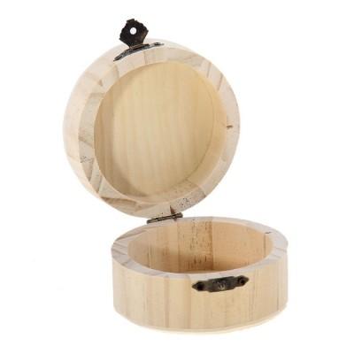 Шкатулка простая круглая 9х9х5 #11448