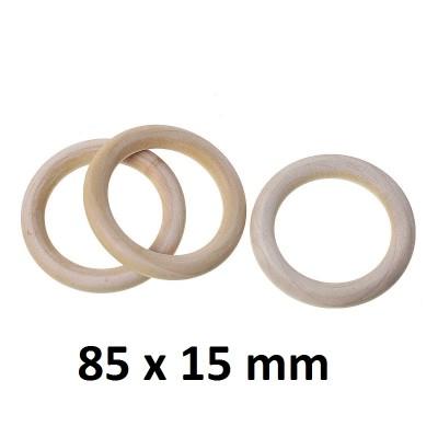 Деревянное кольцо 95х15 мм, 1шт #10566