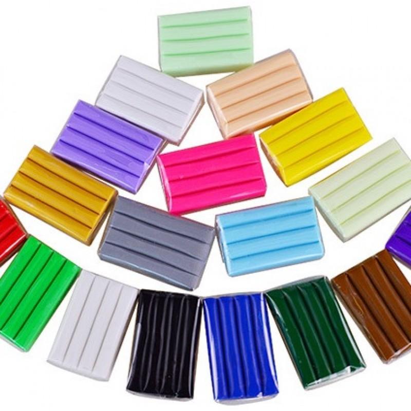 Набор полимерной глины DMO 360 гр, 18 цветов  #11303
