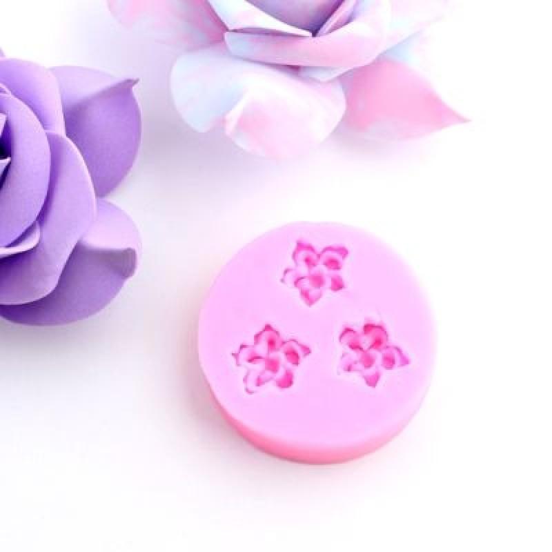 Молд 3 цветочка #5093