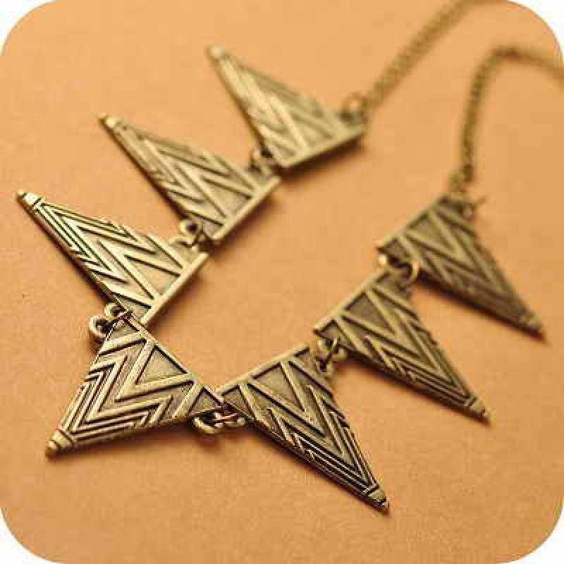 Колье Треугольники #7631