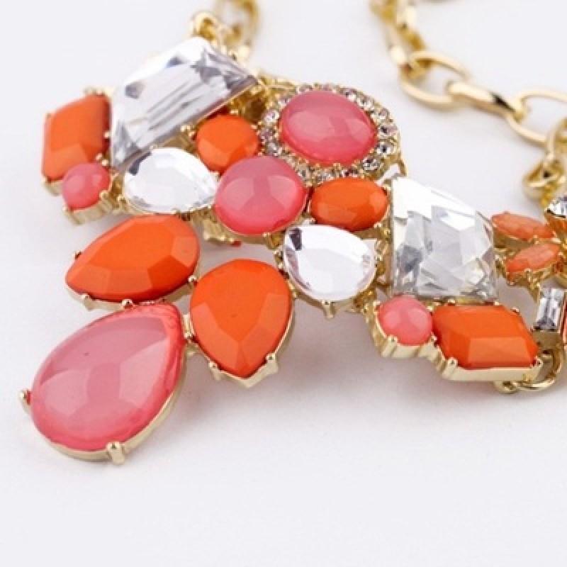 Колье с оранжевыми камнями #3860