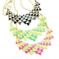 Широкое Колье из Треугольников #5661