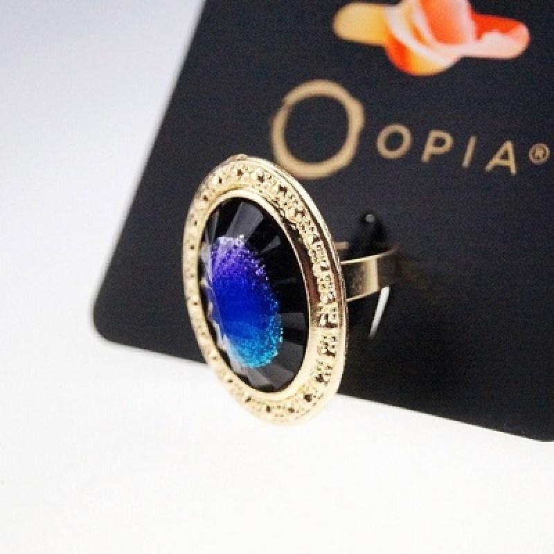Кольцо Синий космос #5125 размер 16