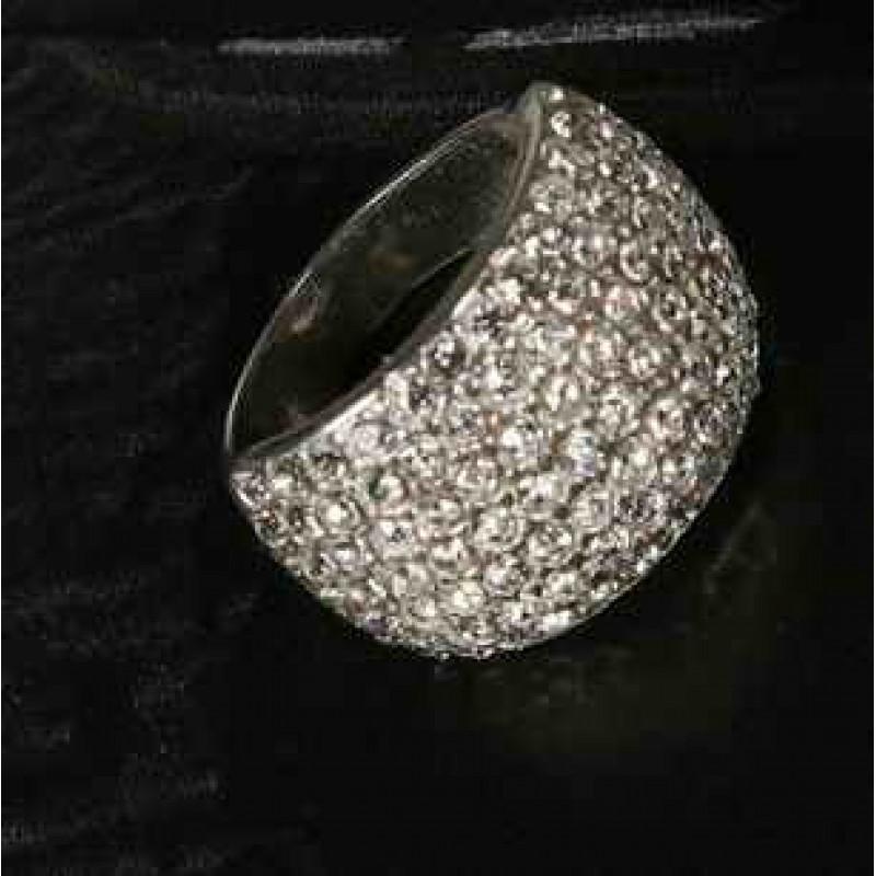 Широкое Кольцо с кристаллами #1343